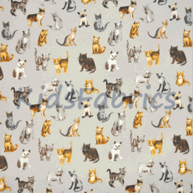 Remnant 1265: Cool Cats - silver [1.10 metre] - £ 9.90 Item price