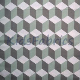 Cube - Aqua - £ 12.95 per metre