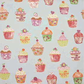 Remnant 997: Cupcakes - Azure [1.10 metre - £9.90] - £ 9.90 Item price