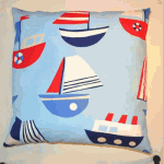 Cushion:  Ships - Sky - £ 15.00 Item price