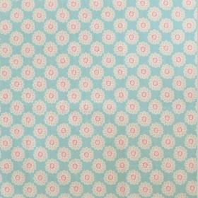 Remnant 1175: Daisy Flower - Aqua [1.10 metre] - £ 10.00 item price
