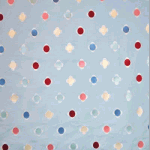 Daisy Embroidery - Powder Blue - £ 31.95 per metre