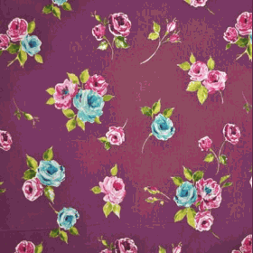 Remnant 1034: Ella - Mulberry [0.40 metre] - £ 3.80 Item price