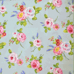 English Rose - Duck Egg - £ 12.95 per metre