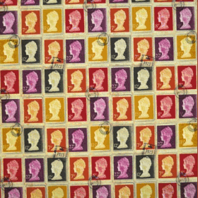 Remnant 1016: Stamps - Mulberry [0.55 metre - £4.90] - £ 4.90 Item price