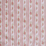Remnant 1285: Floral Stripe - Rose [0.90 metre] - £ 7.50 ITEM PRICE