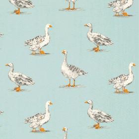 Geese - Duck Egg - £ 13.95 per metre