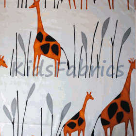 Geoffrey - Giraffe Orange - £ 11.95 Per Metre