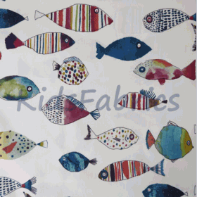 Gone Fishing - Vintage - £ 11.95 per metre