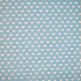 Heart - Powder Blue - £ 11.50 per metre