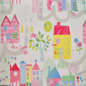 Home Sweet Home - Chintz - £ 11.50 per metre