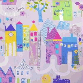 Home Sweet Home-Lavender - £ 10.50 per metre
