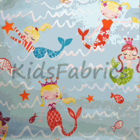 Mermaid - Aqua - £ 11.95 Per Metre