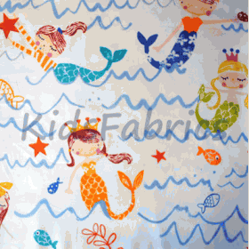 Mermaid - Azure - £ 11.50 Per Metre