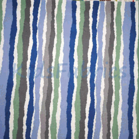 Midgy Stripe - Blue - £ 13.50 Per Metre