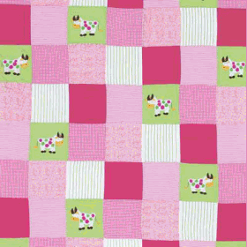 Remnant 1124: Cows on Patchwork [0.55 metre] - £ 8.80 Item price