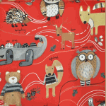 Nature Trail - Red - £ 11.50 per metre