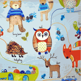 Nature Trail - Watercolour - £ 11.50 per metre