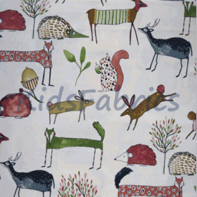 Oh My Deer - Berry - £ 11.95 per metre