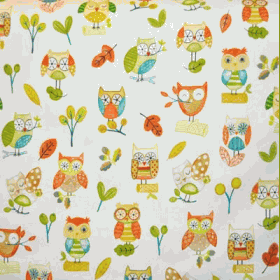 Ollie Owl - Marmalade - £ 11.50 per metre