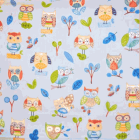 Ollie Owl - Watercolour - £ 12.50 per metre