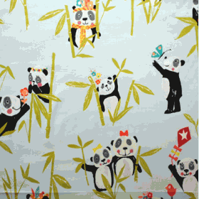 Panda - Aqua - £ 11.50 Per Metre