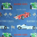 Racing Cars - Denim - £ 9.75 per metre