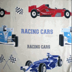 Racing Cars - Natural - £ 9.75 per metre