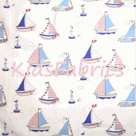 Regatta Sailing Boats - Blue - £ 11.50 per metre