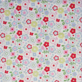 Retro Floral - Chintz - £ 12.95 per metre