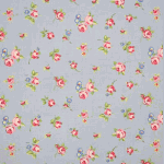 Rosebud - Powder Blue - £ 10.50 per metre