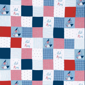 Remnant 1004: Sail - Patchwork  [0.75 metre] - £ 14.90 ITEM PRICE