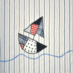 Rem455: Sailaway - Stripe [0.30 metres] - £ 7.40 item price