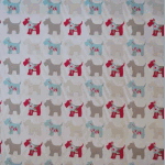 Scottie Dog - Duck Egg - £ 11.50 per metre