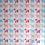 Scottie Dog - Pink - £ 10.50 per metre