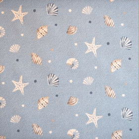 Sea Shells - Marine - £ 11.95 per metre