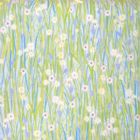 Spring Daisy - Sky - £ 11.95 per metre