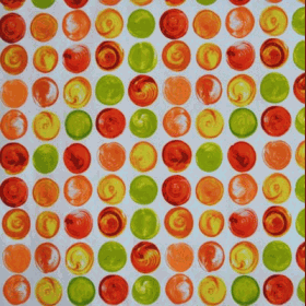 Remnant 1221: Swirl Orange [0.45 metre] - £ 4.30 Item price