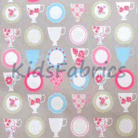 Teacups - Taupe - £ 9.20 per metre