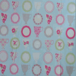 Teacups - Duck Egg - £ 12.95 per metre