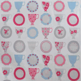Remnant 1068: Teacups - Rose [0.70 metre] - £ 5.50 Item price