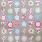 Teacups - Taupe - £ 8.50 per metre