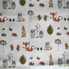 Woodland Fox - Multi - £ 13.95 per metre