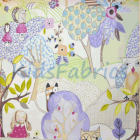 Remnant 1238: Woodland Friends - Lilac [1.00 metre] - £ 9.30 Item price