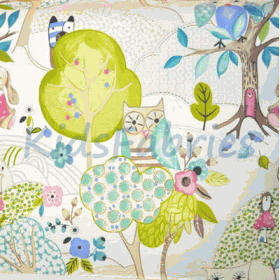 Woodland Friends - Rose - £ 11.95 per metre