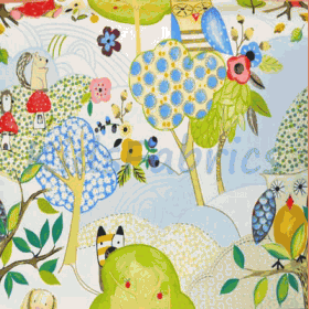 Woodland Friends - Summer - £ 12.50 per metre