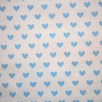WALLPAPER: Love Heart - Powder Blue - £23.95 per roll