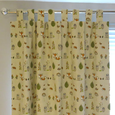 CURTAINS: WOODLAND -MULTI - £96.00 ITEM PRICE