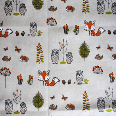 Woodland Fox - Multi - £13.95 per metre