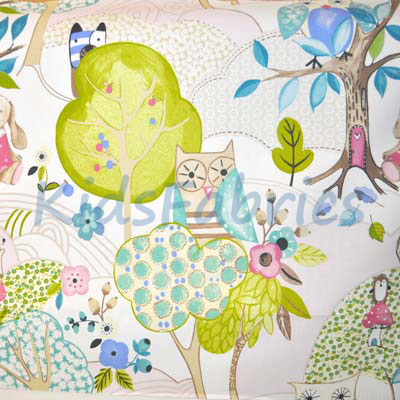 Woodland Friends - Rose - £11.95 per metre
